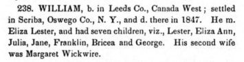William Kilborn, Kilbourne Payne Kenyon, The History and Antiquities of the Name and Family of Kilbourne, (in its Varied Orthography) (New Haven- Durrie & Peck, 1856), page 258
