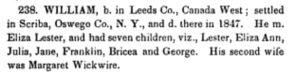 Eliza Lester in Kilbourne Payne Kenyon, The History and Antiquities of the Name and Family of Kilbourne, (in its Varied Orthography) (New Haven- Durrie & Peck, 1856), page 258